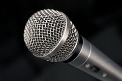 Instruction-macro de microphone Image stock