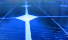 Instruction-macro de panneau solaire Image libre de droits