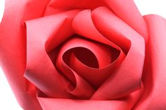 Instruction-macro de papier de Rose Origami Photo stock