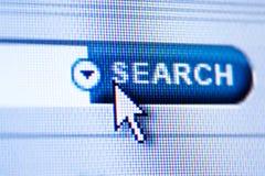 Instruction-macro de recherche de WWW Photos stock
