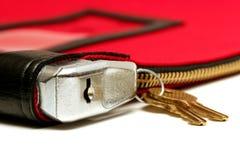 Instruction-macro de sac d'argent au-dessus de blanc photographie stock libre de droits
