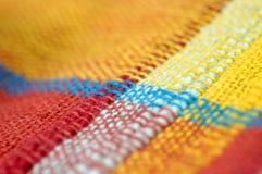 Instruction-macro de tissu Image libre de droits