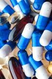 Instruction-macro des pillules médicales photo libre de droits