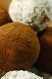 Instruction-macro des pralines faites maison d'un Choccolate Images stock