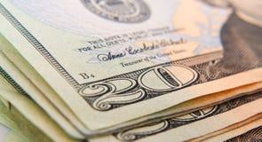Instruction-macro du dollar Photo libre de droits