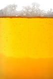 Instruction-macro en verre de bière Photo libre de droits