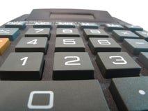 Instruction-macro haut proche de calculatrice Images stock