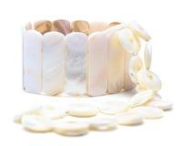 Instruction-macro Nacreous de bracelet et de collier images stock