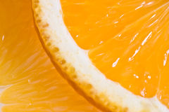 Instruction-macro orange de plan rapproché comme milieux Photographie stock