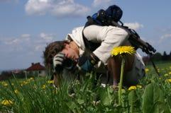 Instruction-macro-photographe images libres de droits