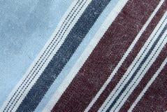 Instruction-macro réel de tissu de coton Images stock