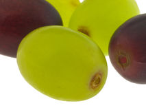 Instruction-macro rouge et vert de raisin Image stock