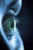 Instruction-macro sur l'oeil femelle humain photos libres de droits