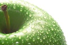 Instruction-macro vert de pomme Photographie stock libre de droits