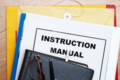 Instruction Manual Stock Image