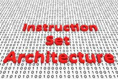 Instruction set architecture. In the form of binary code, 3D illustration Royalty Free Stock Photography