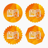 Instruction sign icon. Manual book symbol. Royalty Free Stock Images