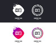 Instruction sign icon. Manual book symbol. Vector. Logotype concept. Instruction sign icon. Manual book symbol. Read before use. Logo design. Colorful buttons stock illustration
