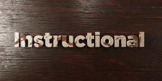 Instructional - grungy wooden headline on Maple  - 3D rendered royalty free stock image. This image can be used for an online website banner ad or a print Royalty Free Stock Photos