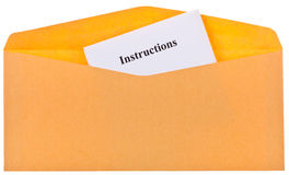 Instructions Royalty Free Stock Images