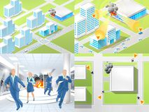 Instructions in case of fire. In the shopping center stock illustration