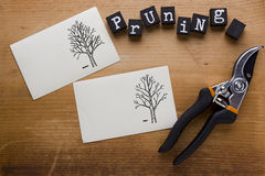 Instructions for cutting trees Stock Photos