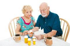 Instructions du relevé de pharmacie image libre de droits