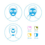 Instructions for face masks Stock Photo