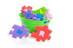 Instructive ABC puzzle Royalty Free Stock Images