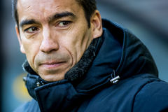 Instructor Coach de Giovanni van Bronckhorst de Feyenoord Imagen de archivo