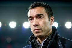 Instructor Coach de Giovanni van Bronckhorst de Feyenoord Foto de archivo libre de regalías