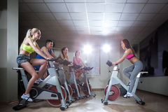 Instructor on cycle Stock Photography