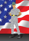 Instructor de taladro militar Fotos de archivo