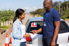 Instructor driving license Royalty Free Stock Photo