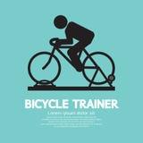 Instructor Graphic Sign de la bicicleta Imagen de archivo