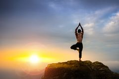 Instructor profesional de la yoga Imagenes de archivo