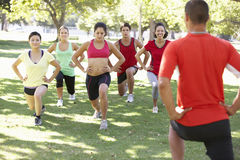 Instructor Running Fitness Boot Camp Royalty Free Stock Images
