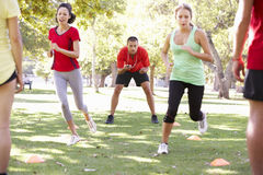 Instructor Running Fitness Boot Camp Royalty Free Stock Image