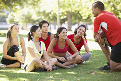 Instructor Running Fitness Boot Camp Stock Image