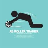 Instructor Symbol del rodillo del Ab stock de ilustración