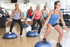 Free Instructor Taking Exercise Class At Gym Royalty Free Stock Image - 7231136