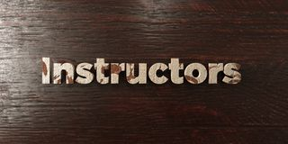 Instructors - grungy wooden headline on Maple  - 3D rendered royalty free stock image Royalty Free Stock Photos
