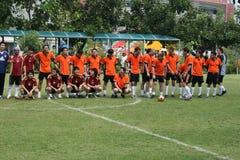 Instruisez l'allumette footbal, Thaïlande. Photographie stock libre de droits