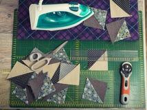 Instrukcja patchworku poduszka Zdjęcie Royalty Free