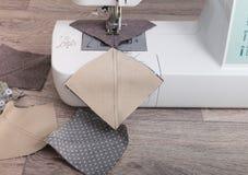 Instrukcja patchworku poduszka Fotografia Stock