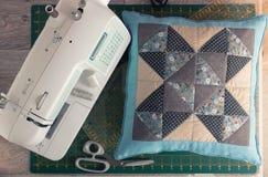 Instrukcja patchworku poduszka Obraz Stock
