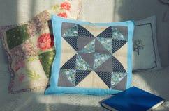 Instrukcja patchworku poduszka Obrazy Royalty Free