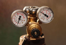 Instrument 01. Instrument for measure of gas pressure Royalty Free Stock Images