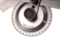 Instrument. Used to measure the angles on a white background Royalty Free Stock Image
