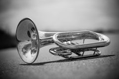 Instrument. Close-up from a Musical instrument /baritone Royalty Free Stock Photos